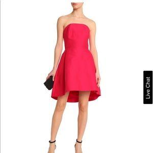 Strapless cotton and silk-blend mini dress